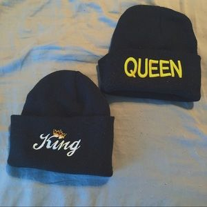 Accessories - Couple's King & Queen Beanie Set